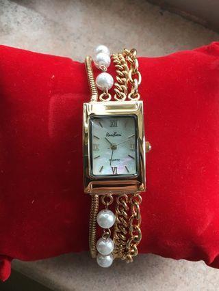 18k gold plated stylish watch 18k 鍍金女裝手錶