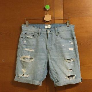 🚚 Net 破壞牛仔短褲 (W32)