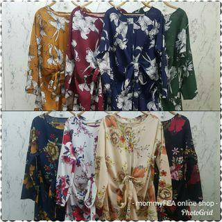 FLORAL PRINTED KNOT BLOUSE