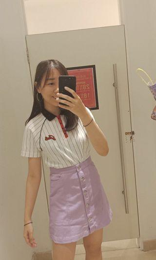 MONKL Purple Button Up Skirt
