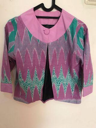 Baju Batik Outer purple Preloved