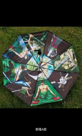 New one piece 9 difference of zoro pictures 3 fold umbrella