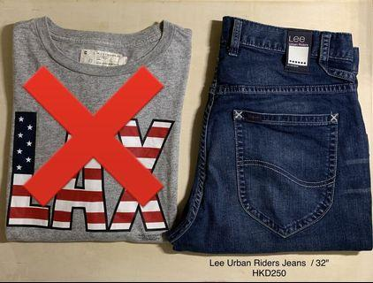 "Lee Urban Riders Jeans / 32"""