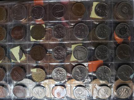 1800 vintage coins includes silver USA ones