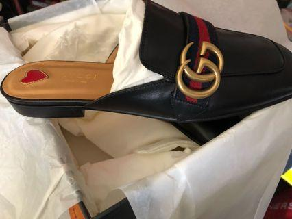 Gucci backless leather mules
