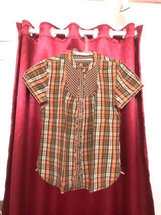 Orange square blouse