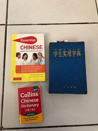 Kamus Bahasa Mandarin/Chinese 3 buku