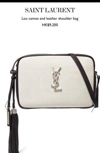 Ysl Saint Laurent Camera Cross Bag 白色相機包