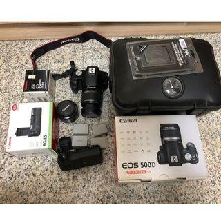 Canon 500D with Accessory (Original Battery Grip & Battery )