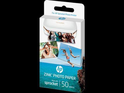 HP Sprocket Photo Paper (50-sht)