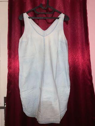 Light denim mini dress