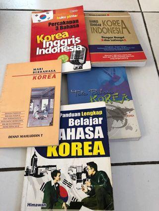 Buku Kamus bahasa Korea (1 paket 5 buah buku)