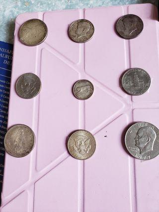 silver dollared coins