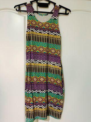 Tribal Colourful Bodycon Dress