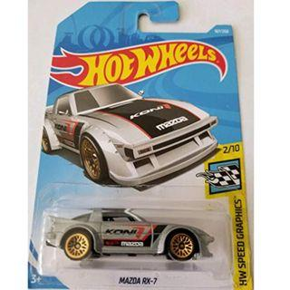 Hotwheels 2019 HW Speed Graphics Mazda RX-7 Rare Hot Wheels Koni Racing