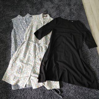 Bundle deal - 3 Uniqlo maternity dresses (S size but cutting runs big)