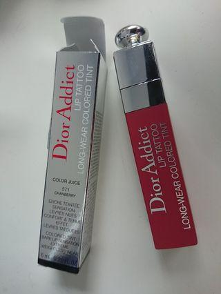 Dior Addict Lip Tatto 迪奧 癮誘超模染唇露 571 Cranberry