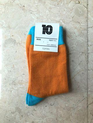 TOPTEN Unisex Orange-Blue Socks