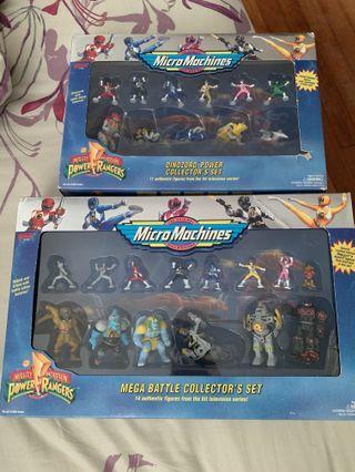 Power Rangers Mirco Machines Mint In box