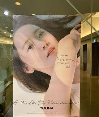 Yoona a walk to remember poster
