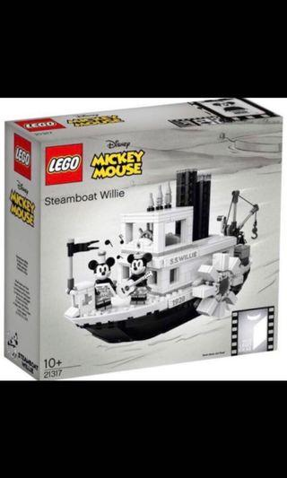 Lego 21317 Disney Steamboat Willie boat Mickey Minnie mouse - brand new