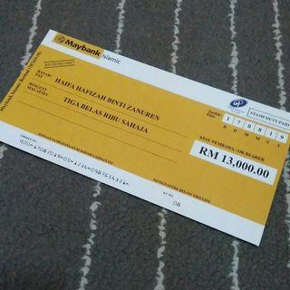 Wedding Mock-up cheque