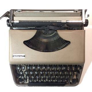 手動打字機 Antares 鐵殼 用打字帶已經冇色 硬膠套連手抽 古董 懷舊 typewriter