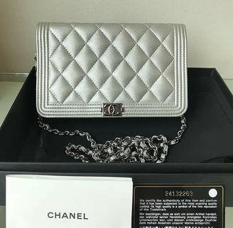 100% Authentic Chanel Woc in Caviar