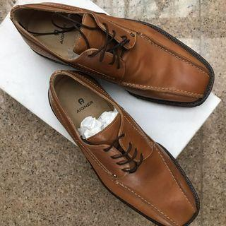 AIGNER LACE UP LEATHER LOAFERS