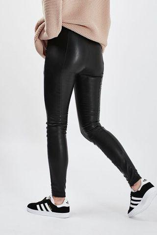 Topshop faux leather stretch leggings