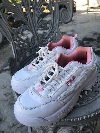 Fila 老爹鞋 增高厚底鞋