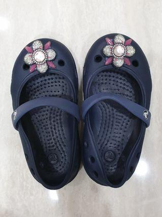 Crocs girl shoes navy blue with bling bling