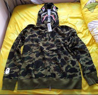 MMJ x BAPE double shark hoodie