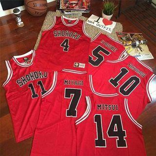Slam dunk Basketball jersey灌籃高手籃球衣籃球背心運動衣All Number all sizes
