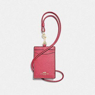 🚚 NEW Coach ID Lanyard in Pink Ruby / Gold