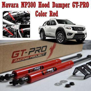 NAVARA NP300 Hood Damper Bonnet Shock Kit GT-Pro RED Plug and Play