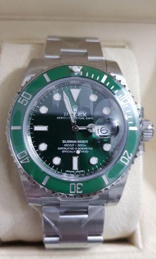 🚚 rolex submariner hulk 116610lv