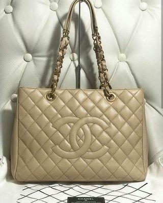 100% Authentic Chanel GST in Beige