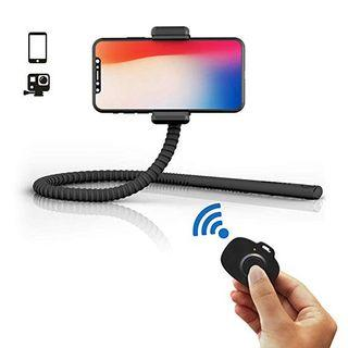 GekkoStick (Black) Bluetooth Flexible Selfie Stick Tripod with Wireless Remote for iPhone/Android/Samsung Galaxy