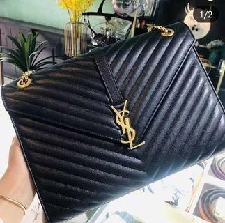 100% Authentic YSL Large Envelope