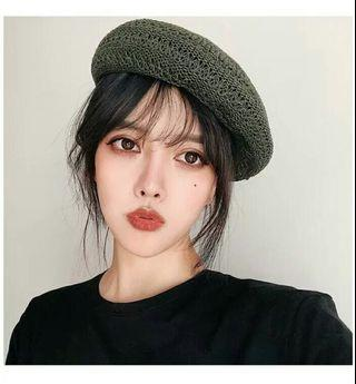 (PO) 3 Colours - Woven Looking Beret