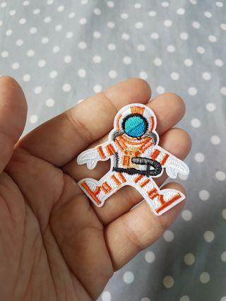 Astronaut iron on patch