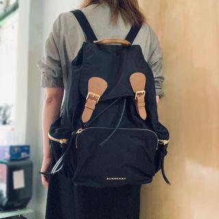 Burberry The Large Rucksack in Technical Nylon and Leather Backpack 背包 媽媽袋 奶粉袋