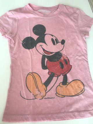 Disney Mickey Mouse pink top shirt
