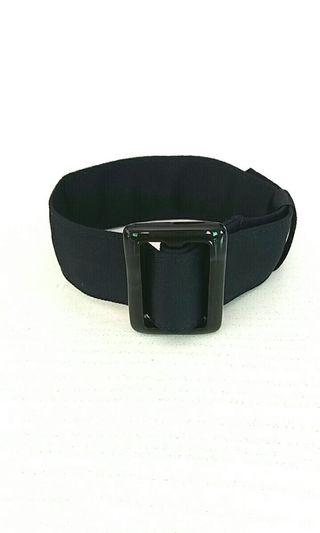 Wrap Bracelet with Black Buckle - Navy Blue