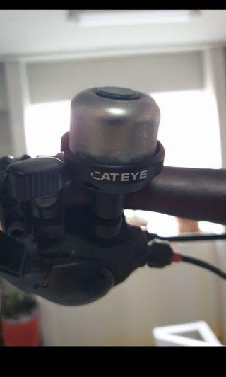 Cateye bell silver bicycle bike scooter