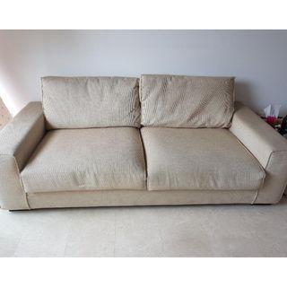 Light Khaki 2-Seater Sofa