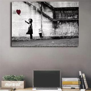 🚚 Banksy There Is Always Hope HD Wall Art Print Canvas Framed