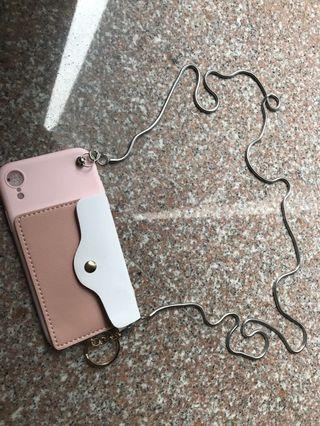 Brand new pink and white purse like iPhone XR phone cover