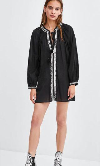 Zara Tunic With Contrasting Embroidered Details
